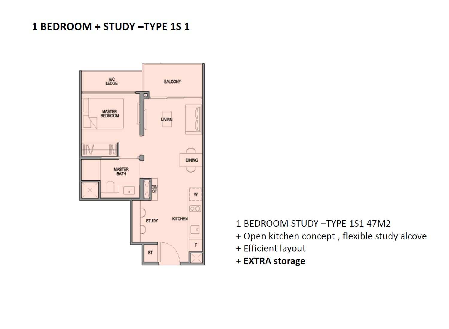 Park Colonial 1 Bedroom + Study