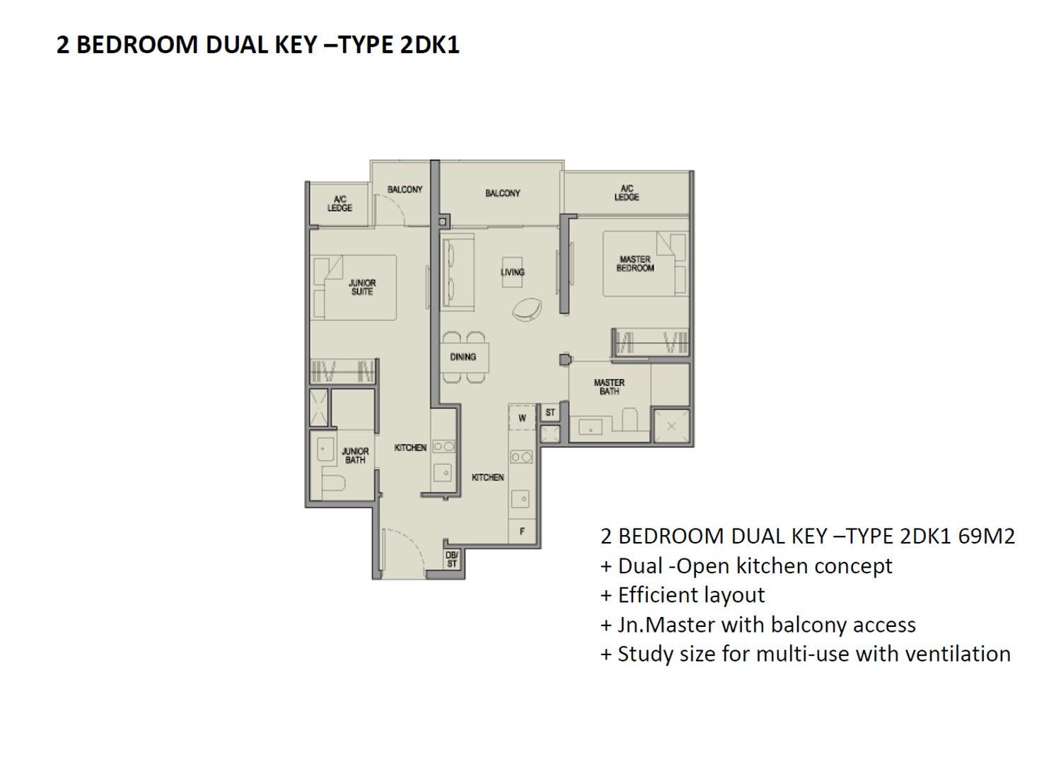 Park Colonial 2 Bedroom Dual Key